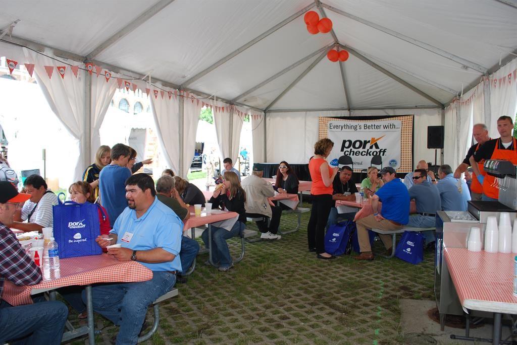World Pork Expo, Pork Checkoff Hospitality Tent